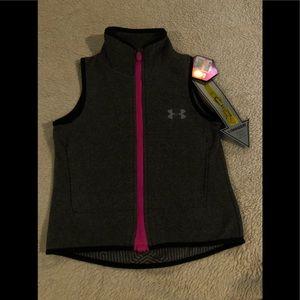Under Armour Girl's Fleece Vest Size YXS NWT